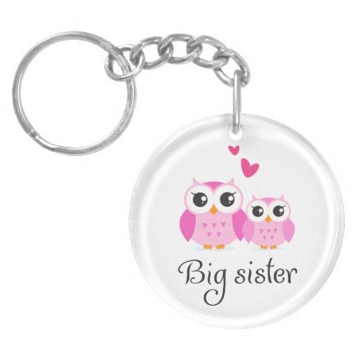 cute_owls_big_sister_little_sister_cartoon_keychain-re845ca7da35849ddacc1a047e628b55b_fupus_8byvr_512 10 Fabulous & Gorgeous Sister Gift Ideas