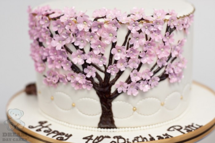 dogwood-tree-birthday-cake-02 60 Mouth-Watering & Stunning Happy Birthday Cakes for You