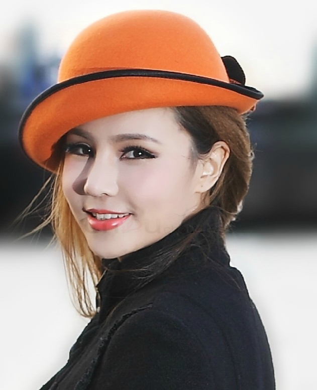 fashion_orange_fuchsia_ladies_wool_winter_hats_for_women_2013_with_flower_2_ 48+ Best Christmas Gift Ideas for Your Wife