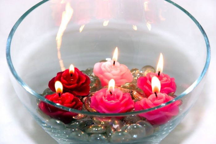 floral_candles 10 Stunning & Fascinating Homemade Xmas Gifts