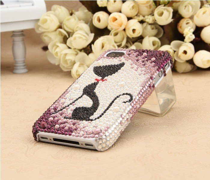 font-b-Kitten-b-font-diamond-mobile-phone-luxury-cover-for-iphone4-accessories-for-iphone4g 50 Fascinating & Luxury Diamond Mobile Covers for Your Mobile