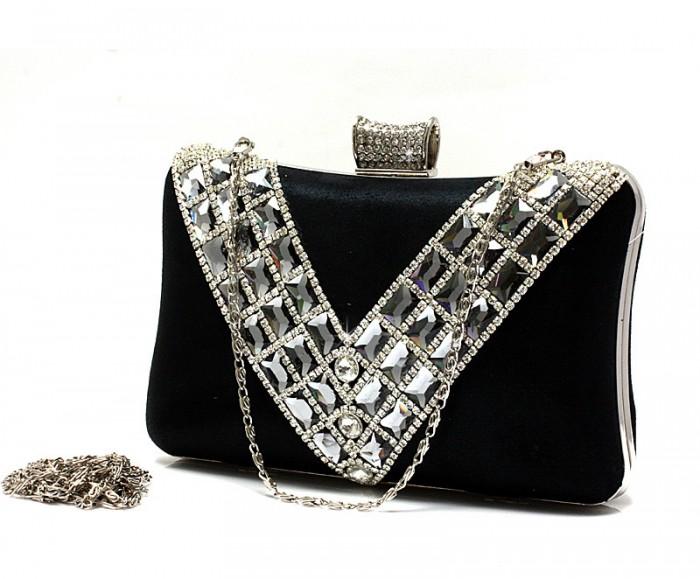 free-Shipping-Luxury-V-style-Rhinestone-Evening-Bag-Fashion-Diamond-Clutch-Bag-Handbag-Gold-Silver-Black 50 Fabulous & Elegant Evening Handbags and Purses