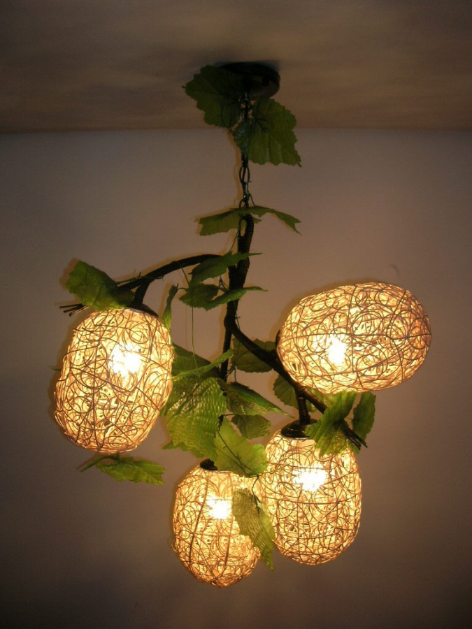 free-shopping-Combination-rustic-pendant-light-handmade-rattan-decoration-lamps-4-heads 10 Fabulous Homemade Gifts for Your Mom