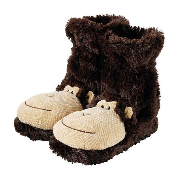 gift-ideas-for-women-fun-feet-slipper-socks-monkey 35 Weird & Funny Gifts for Women