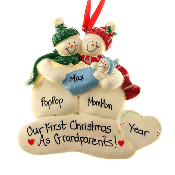 Best Baby Boy Christmas Gifts : Grandparents first christmas ornament gift baby boy