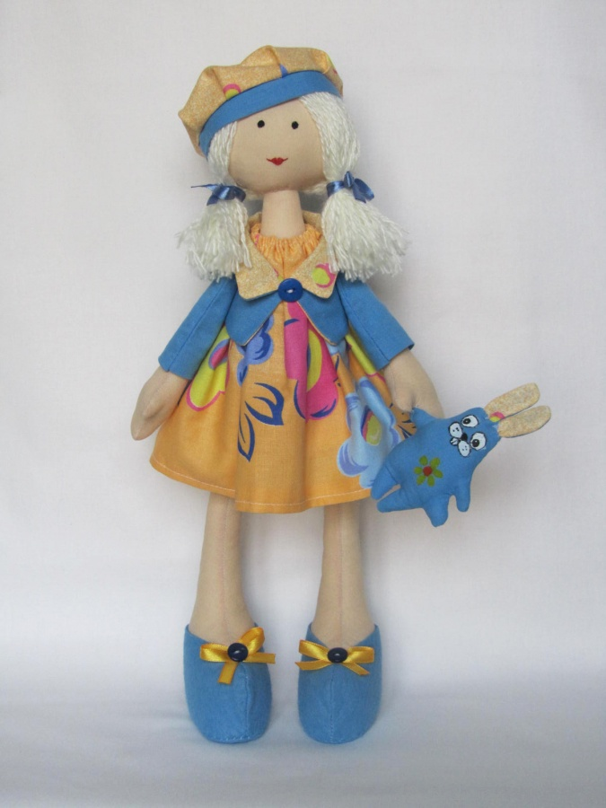 handmade-dolls-toys-doll-with-hare-front 10 Stunning & Fascinating Homemade Xmas Gifts