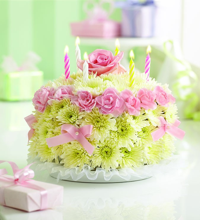 happy-birthday-cake-with-flowers 60 Mouth-Watering & Stunning Happy Birthday Cakes for You