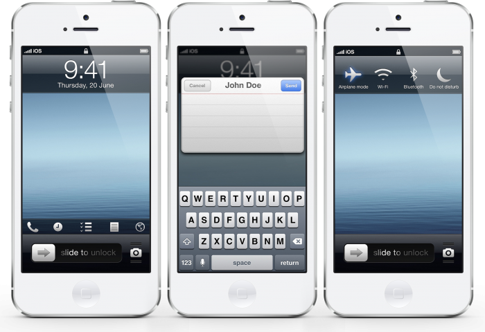 iphone5_white_ios7 iOS 7 as the Most Advanced Mobile OS in the World