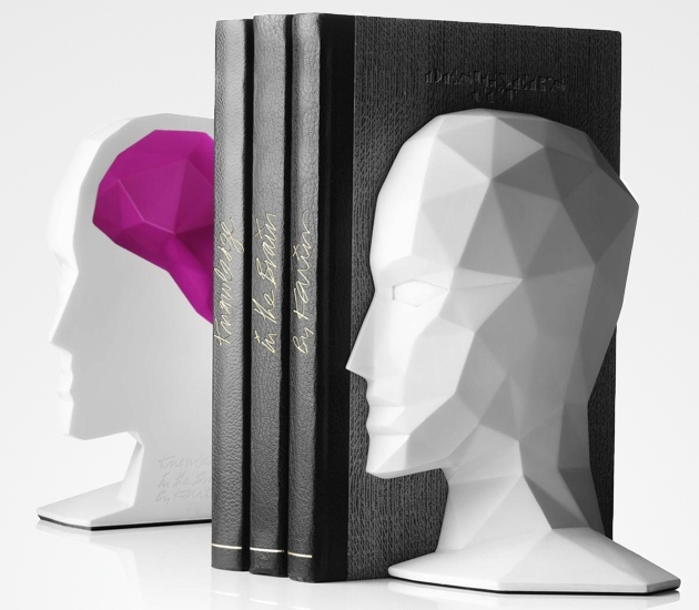 knowledge_brain_bookends_modern_karim_rashid_white_pink 15 Fascinating & Unusual Christmas Presents