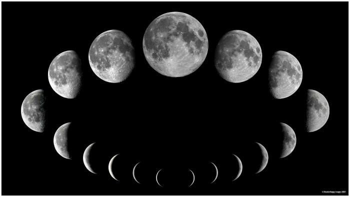 moon-phases The Monthly Cycle Of The Moon And Its Phases