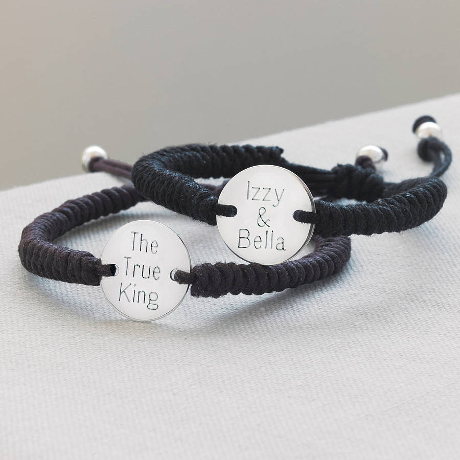 original_mens-personalised-silver-friendship-bracelet 10 of the Cheapest Personalized Gifts for Men