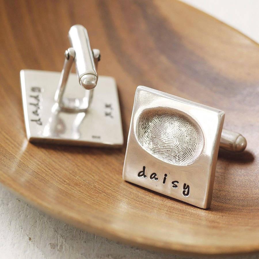original_personalised_fingerprint_cufflinks The Best 10 Christmas Gift Ideas for Grandparents