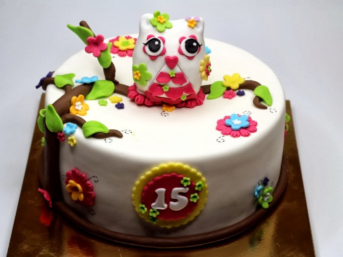 owl-birthday-cake-london 60 Mouth-Watering & Stunning Happy Birthday Cakes for You