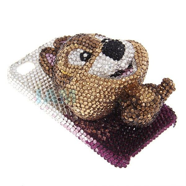 pl1109840-brown_3d_cute_bear_diamond_custom_apple_iphone_4_hard_case_eco_friendly_for_girl 50 Fascinating & Luxury Diamond Mobile Covers for Your Mobile