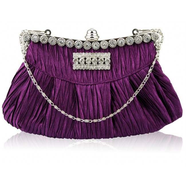 purple_pleated_evening_bag 50 Fabulous & Elegant Evening Handbags and Purses
