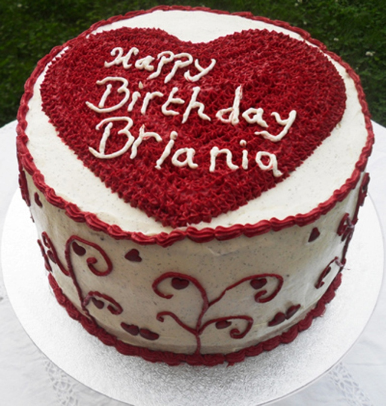 red-heart-birthday-cake-165-p 60 Mouth-Watering & Stunning Happy Birthday Cakes for You