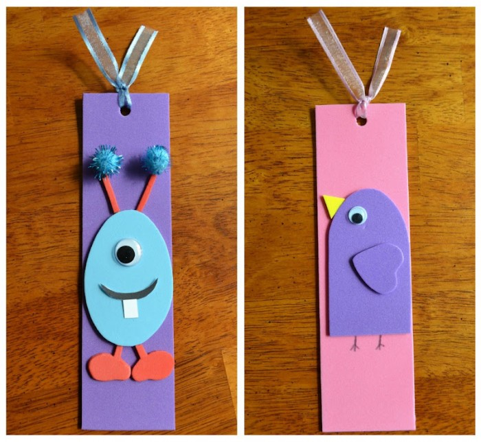 side-by-side-finished-foam-bookmarks The Best 10 Christmas Gift Ideas for Grandparents