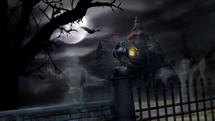 spring-night-halloween-haunted-house-raven-tree-free-hd-85136 Oh My God! Did You Hear Such a Scary Voice Before?