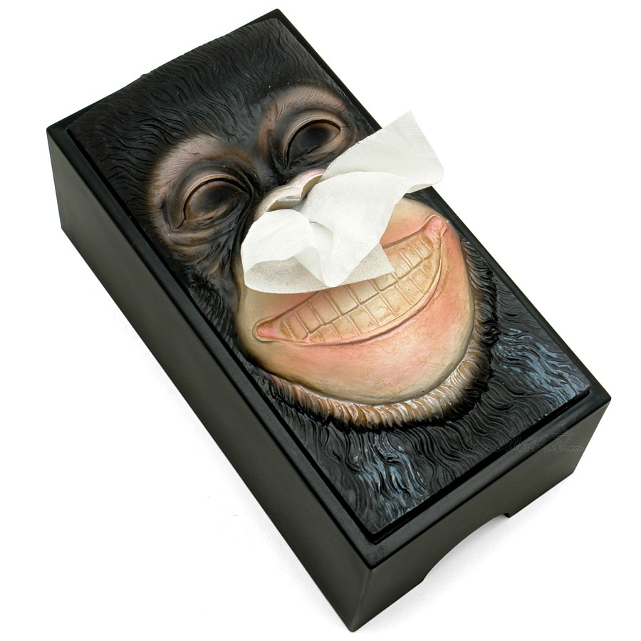 tissue-holder-monkey 45 Non-traditional & Funny Christmas Gifts for 2021