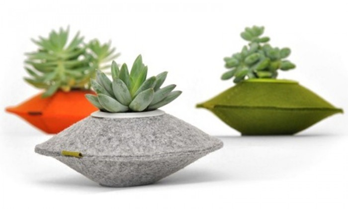 unusual-colorful-planters-of-recycled-felt-1 15 Fascinating & Unusual Christmas Presents