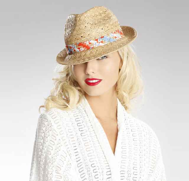 womens-interlock-trilby-straw-trilby-hats-for-women 2017 Christmas Gift Ideas for Your Wife