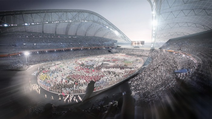 ©-POPULOUS-Sochi-2014-Olympic-Stadium_Internal1 The Countdown to Sochi 2014 Winter Olympics Has Started