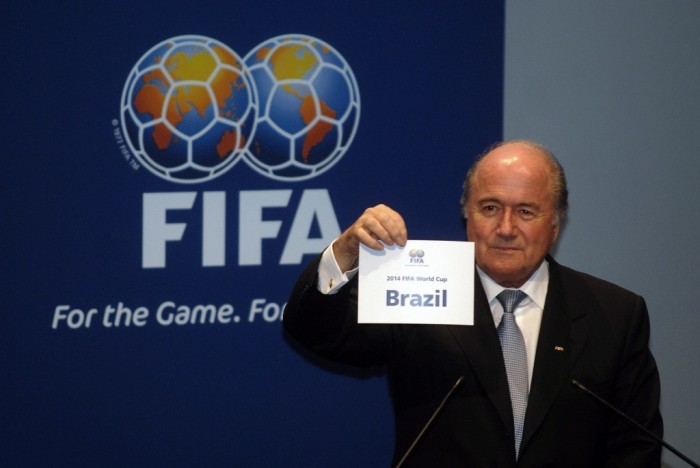 2.-Sepp-Blatter-awarding-the-2014-World-Cup-to-Brazil $90-$900 for a Ticket to Attend the 2014 FIFA World Cup Matches