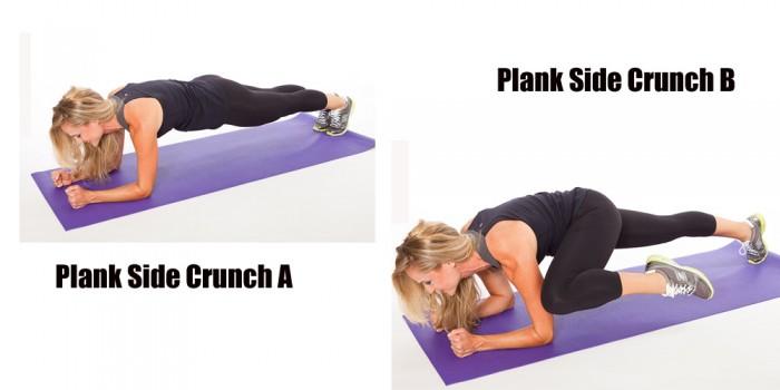 2.Plank-Side-Crunch Abdominals Fat