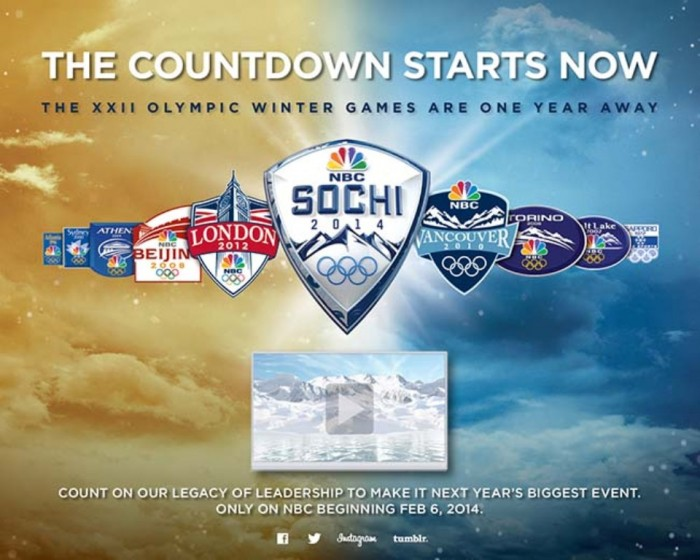 20996052_BG1 The Countdown to Sochi 2014 Winter Olympics Has Started