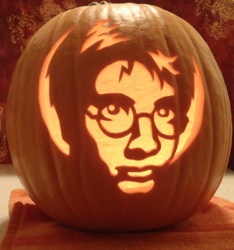 Accessories-Harry-Potter-Pumpkin-Carving-Patterns-25-Pumpkin-Carving-Patterns-Character-Ideas Top 60 Creative Pumpkin Carving Ideas for a Happy Halloween