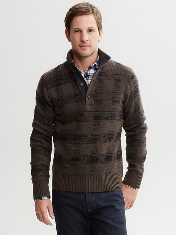 Banana-Republic-Winter-2013-Perfect-Plaids-Collection-for-Men_20 75+ Most Fashionable Men's Winter Fashion Trends for 2019