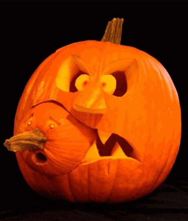 Creative-Halloween-Pumpkin-Carving-Design-Ideas Top 60 Creative Pumpkin Carving Ideas for a Happy Halloween