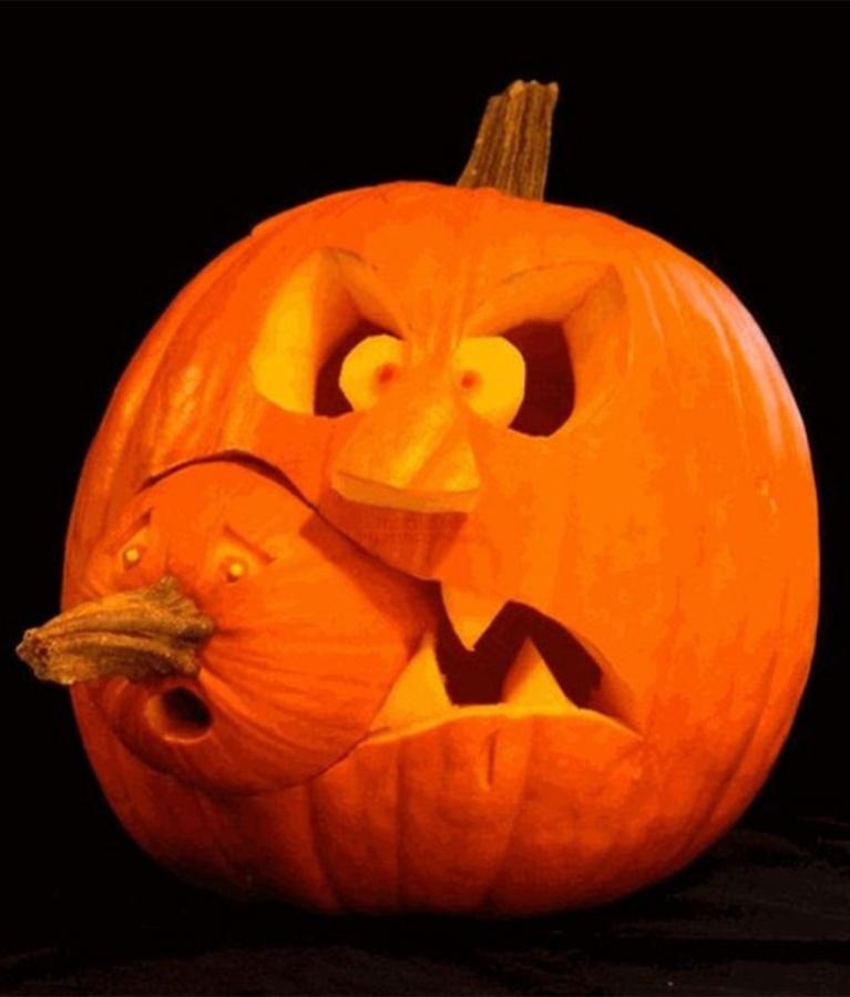 Creative-Halloween-Pumpkin-Carving-Design-Ideas Top 60 Creative Pumpkin Carving Ideas for a Happy Halloween
