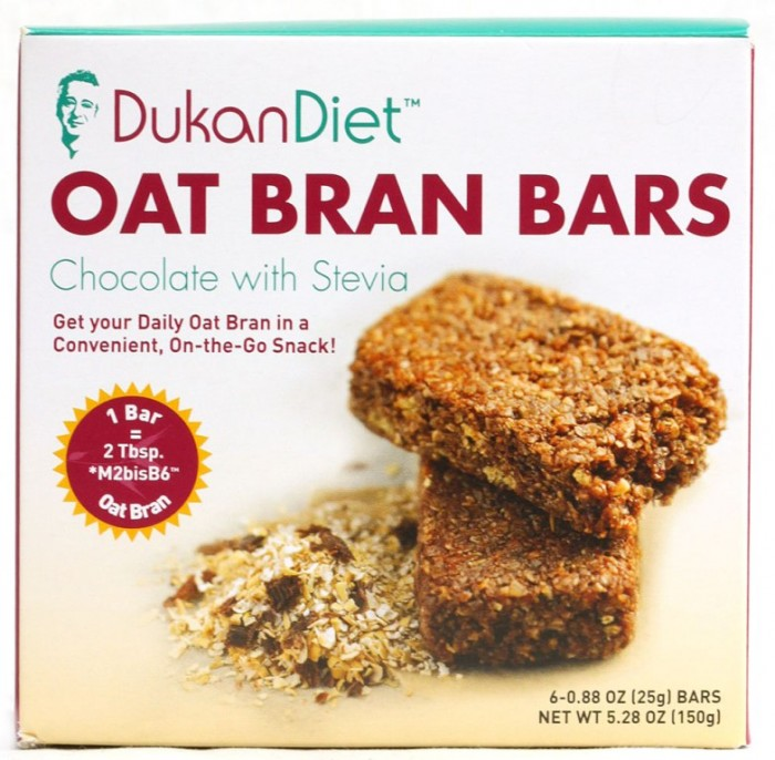 """DukanDiet-Oat-Bran-Bars-Chocolate-with-Stevia-858427003032 Put an End for Being Overweight Forever with """"Dukan Diet"""""""