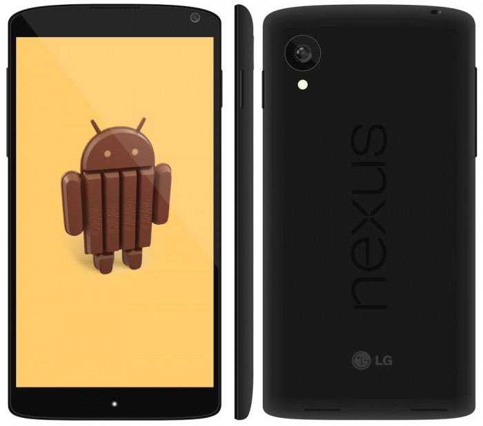 LG-Nexus-5-mockup Google Releases Its Nexus 5 that Is Powered by Android 4.4, KitKat