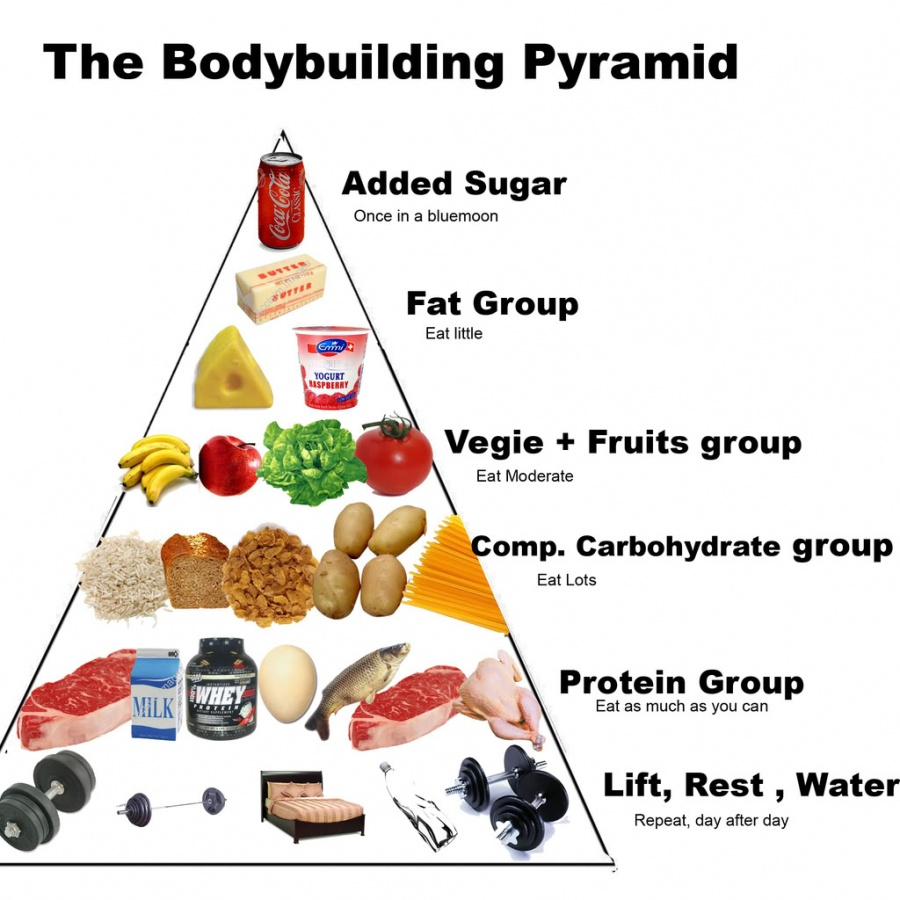 NUTRITION-BODYBUILDER-PYRAMID Top 20 Biggest Muscle Building Mistakes