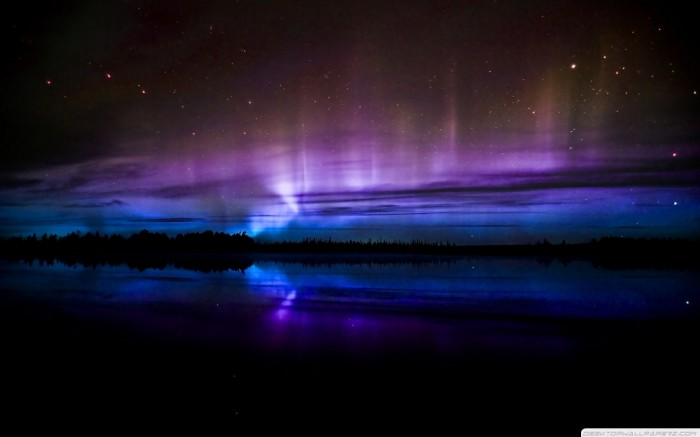 Purple-And-Neon-Blue-Night-Skyscapes-1680x1050 Magnificent and Breathtaking Blue Waves that Glow at Night