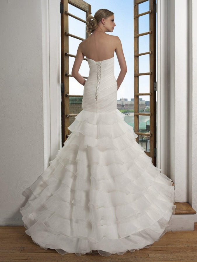 Ruffled-Mermaid-Organza-Wedding-Dress-2014 47+ Creative Wedding Ideas to Look Gorgeous & Catchy on Your Wedding