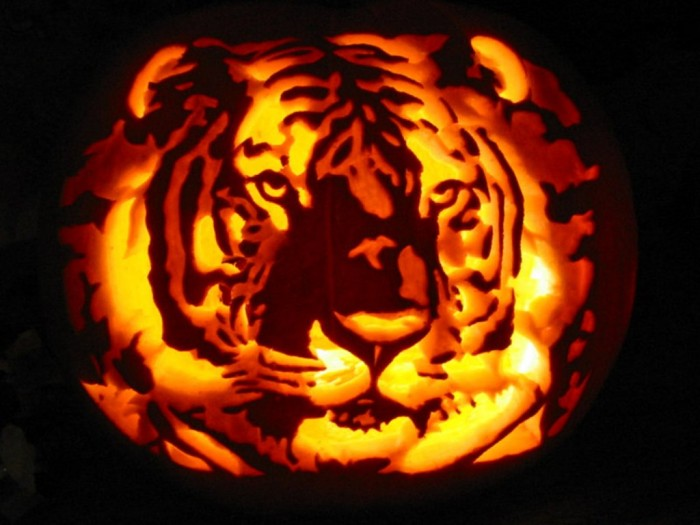 Tiger_Pumpkin_Carving_by_Armuri Top 60 Creative Pumpkin Carving Ideas for a Happy Halloween