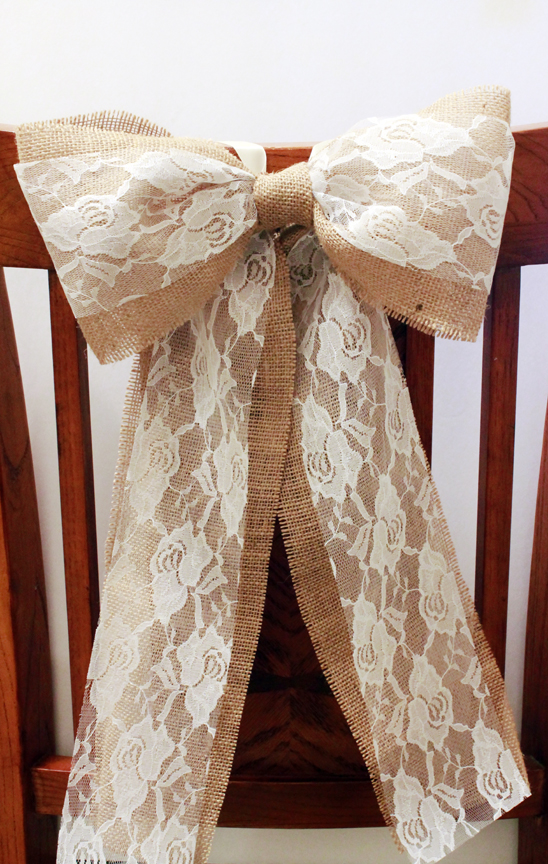 burlap-and-Lace-rustic-pew-bow4-2fb8c712fe15282caf352082d78ed232 47+ Creative Wedding Ideas to Look Gorgeous & Catchy on Your Wedding