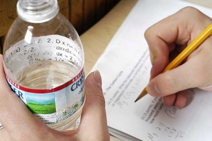 how-to-cheat-in-exams-water-bottle-label Unbelievable & Creative Methods for Cheating on Exams