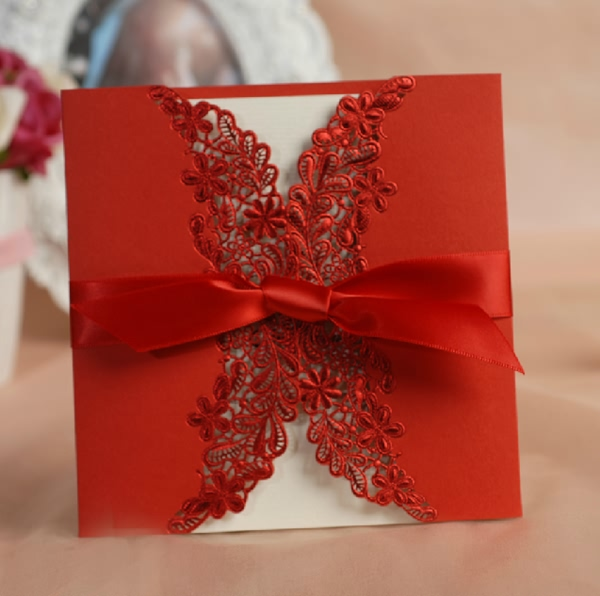 luxury-red-lace-wedding-invitations-2014-for-red-weddings 47+ Creative Wedding Ideas to Look Gorgeous & Catchy on Your Wedding