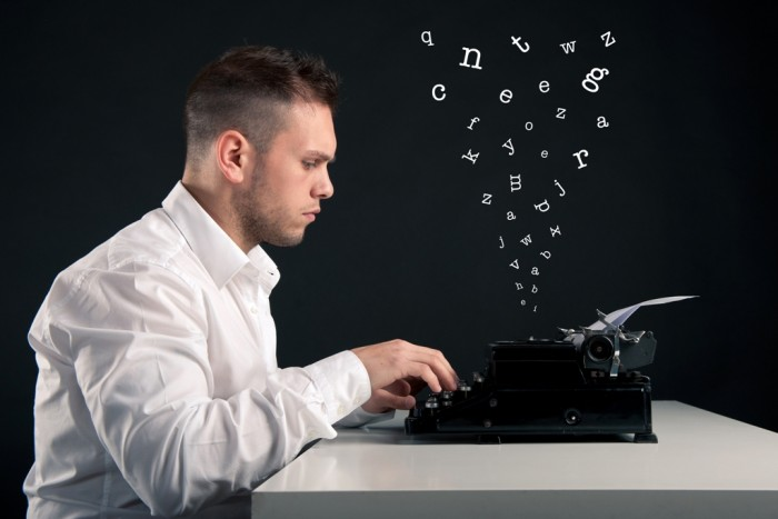 man-using-typewriter Do You Know How to Write a Novel on Your Own?