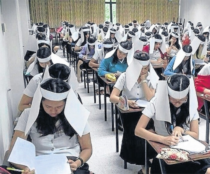 o-CHINA-EXAMS-BLINKERS-facebook Unbelievable & Creative Methods for Cheating on Exams