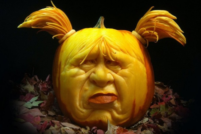 others-old-man-face-in-unique-pumpkin-carving-lattern-design-for-excellent-garden-design-amazing-pumpkin-patterns-for-wonderful-halloween-decoration-ideas Top 60 Creative Pumpkin Carving Ideas for a Happy Halloween