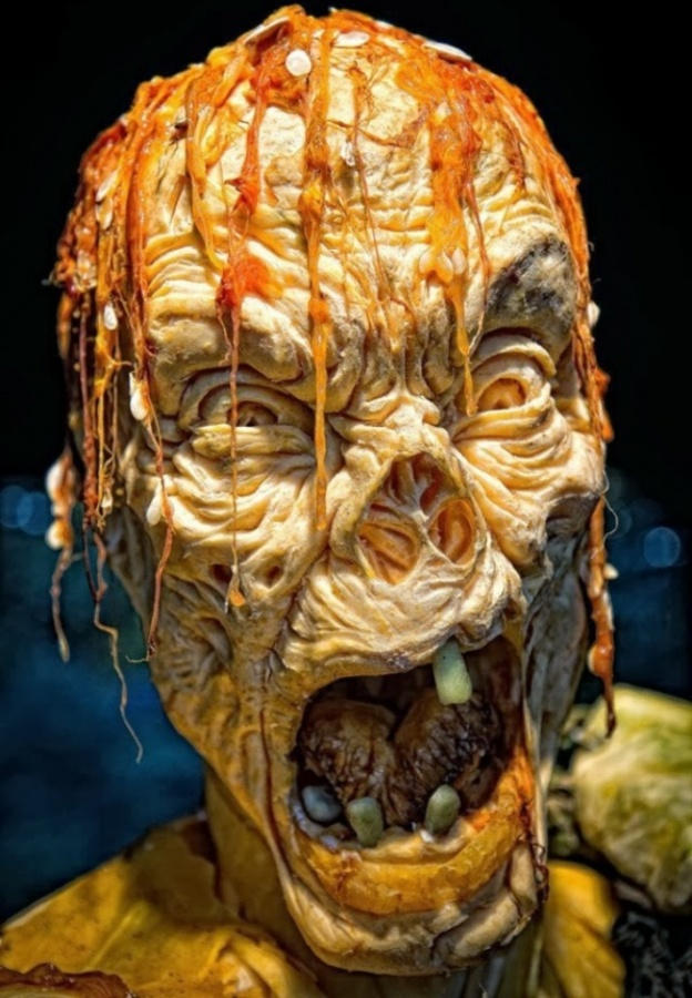 pumpkin-zombie Top 60 Creative Pumpkin Carving Ideas for a Happy Halloween