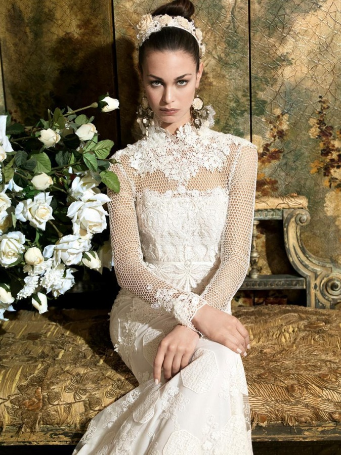 romantic_dresses_wedding_dress_bridal_gowns_romantic_gown_lace_yolancris_yolan_cris_civita_21 47+ Creative Wedding Ideas to Look Gorgeous & Catchy on Your Wedding