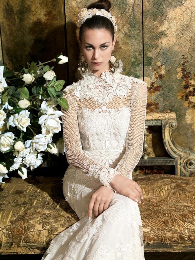 romantic_dresses_wedding_dress_bridal_gowns_romantic_gown_lace_yolancris_yolan_cris_civita_21 47+ Creative Wedding Ideas to Look Gorgeous & Catchy on Your Wedding