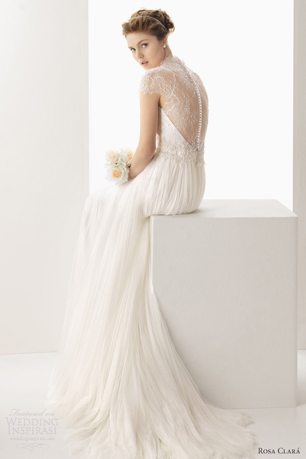 rosa-clara-2014-soft-wedding-dresses-unax-scalloped-cap-sleeve-lace-back-gown 47+ Creative Wedding Ideas to Look Gorgeous & Catchy on Your Wedding