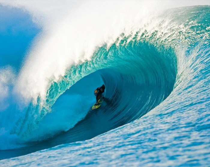 surfer-and-wave 70 Stunning & Thrilling Photos for the Biggest Waves Ever Surfed
